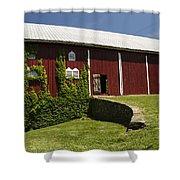 Hay Barn Shower Curtain