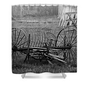 Hay Rake Shower Curtain