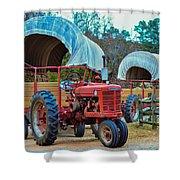 Hay Rides Trailer Shower Curtain
