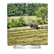 Hay Season Shower Curtain