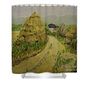 Hay Stack Shower Curtain