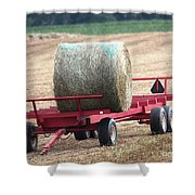 Hay Wagon Shower Curtain