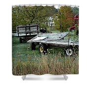 Hay Wagons Shower Curtain