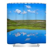 Hayden Valley Cloud Reflection Yellowstone National Park Shower Curtain