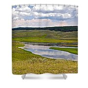Hayden Valley In Yellowstone National Park-wyoming Shower Curtain