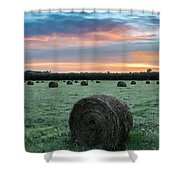 Hayfield Sunrise 3d21735 Shower Curtain