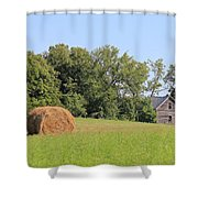 Haying Season At Captain Ed's Homestead Shower Curtain