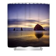 Haystack Afterglow Shower Curtain
