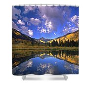Haystack Mountain Reflected In Beaver Pond Shower Curtain