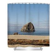 Haystack Rock 2 - Pacific City Oregon Coast Shower Curtain