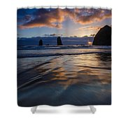 Haystack Rock And The Needles Shower Curtain