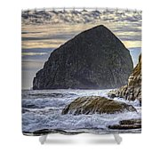 Haystack Rock At Cape Kiwanda Shower Curtain