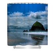 Haystack Rock Iv Shower Curtain