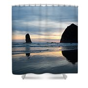 Haystack Rock On Cannon Beach Oregon Shower Curtain