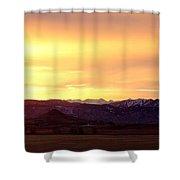 Haystack Rocky Mountain Front Range Sunset Panorama Shower Curtain