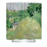 Haystacks At Bougival Shower Curtain