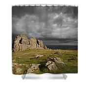Haytor Storm Shower Curtain