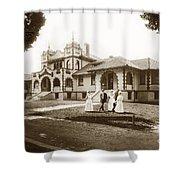 Hazel Hawkins Hospital Monterey Street Hollister California Circa 1907 Shower Curtain