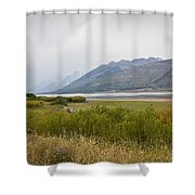 Hazy Day - Grand Teton National Park - Wyoming Shower Curtain
