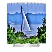 Hazy Day Sail Shower Curtain
