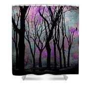 Hazy Purple Shower Curtain