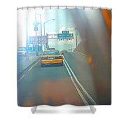Hazy Taxi Ride Shower Curtain