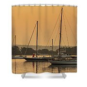 Hazy Tranquility Shower Curtain