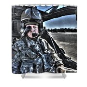 Hdr Image Of A Pilot Equipped Shower Curtain