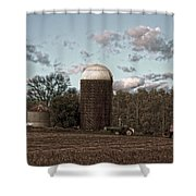 Hdr Image The Farmers Silo Shower Curtain