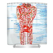 He Bore It Silently Shower Curtain