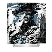 He Calls It Home - Blue Shower Curtain