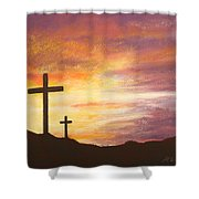 He Is Risen Shower Curtain by Marna Edwards Flavell