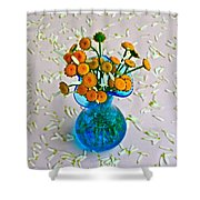 He Loves Me Bouquet Shower Curtain