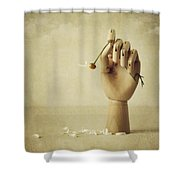 He Loves Me Not Shower Curtain by Amy Weiss