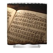 He Set Me Free - Hymnal Song Shower Curtain