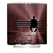 He Spoke Light Into The Darkness Shower Curtain