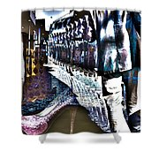 He Staggered Through The Streets Trying To Find His High Heel Boots Shower Curtain