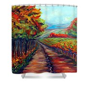 He Walks With Me Shower Curtain