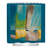 Head Above Water Shower Curtain