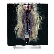 Head And Knife Shower Curtain