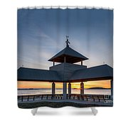 Head Island Pavillion Shower Curtain