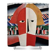 Head Of A Peasant Shower Curtain