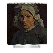 Head Of A Peasant Woman With White Cap Shower Curtain
