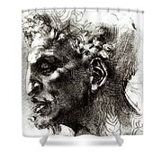 Head Of A Satyr  Shower Curtain