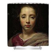 Head Of A Young Girl Shower Curtain