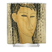Head Of A Young Women Shower Curtain