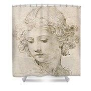 Head Of An Angel Shower Curtain