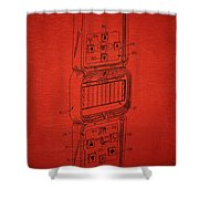 Head To Head Football Classic Electronic Toy Shower Curtain by Edward Fielding