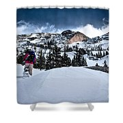 Heading For The Peak Shower Curtain