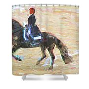 Heading Into The Ring Shower Curtain
